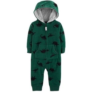 Carters fleece hooded coverall